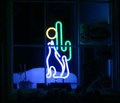 Image for Coyote by Moon and Cactus, West Jefferson, North