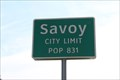 Image for Savoy, TX - Population 831