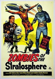 Zombies of the Stratophere was shot in the caves and was Leonard Nimoy