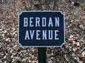 Image for Berdan Avenue - Cast Iron Avenue Tablet - Gettysburg National Military Park Historic District - Gettysburg, PA