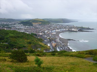 Lord Abercrombie visited Constitution Hill Panorama of Aberystwyth, Ceredigion, Wales, UK