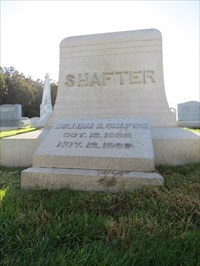 William R Shafter, Medal of Honor, San Francisco National Cemetery