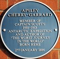 Image for Apsley Cherry-Garrard Blue Plaque - Lansdowne Road, Bedford, UK