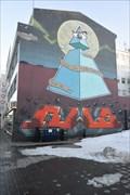 Image for All-Seeing Eye Street Art Mural -- Akureyri, Iceland