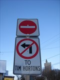 Image for No Left Turn into Tim Horton's