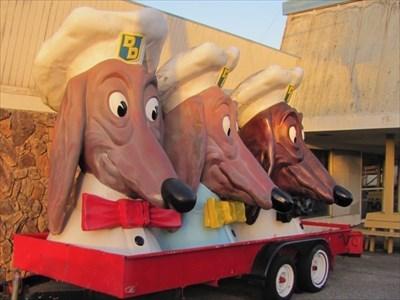 Doggie Heads from the Right, Teasure Island, San Francisco, California