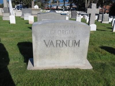 Charles A Varnum, Medal of Honor, Back, San Francisco National Cemetery