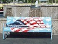 Image for American Flag bench - College Station, TX