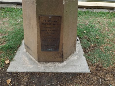 On the side of the Ken Lane Riverside Walk, there used to be a sundial attached to the pillar