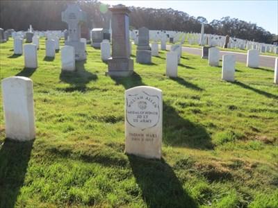 William Allen, Setting, San Francisco National Cemetery