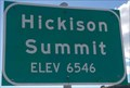 Image for Hickison Summit - Elevation 6546 feet