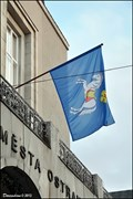 Image for Ostrava - municipal flag on New Town Hall (Ostrava - North Moravia)