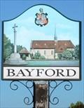 Image for Village Sign, Bayford, Herts, UK
