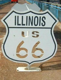 This bicycle rack is located on the state line.  Illinois on one end and Missouri on the other.