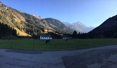 starting point of the tour in Birgsau, Oberstdorf