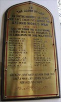 Image for First Church of Otago World War II Memorial Plaque - Dunedin, New Zealand
