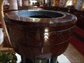 Image for Serpentine Stone - Font - St Mary's Church - Betws-y-Coed, Snowdonia, Wales.