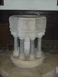 Image for Stone Font, St. George's, Clun, Shropshire, England