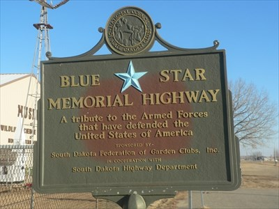Blue Star Marker in Webster, SD
