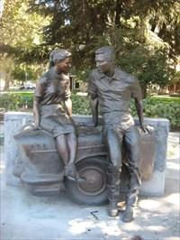 American Graffiti Statue Modesto Ca Figurative Public