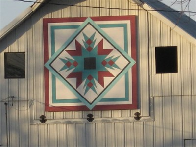 Indian Star Barn Quilt Rural Guthrie Center Ia Painted Barn