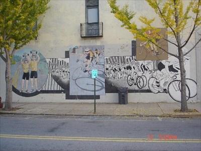 Bike mural downtown augusta ga murals on for 6 blocks from downtown mural