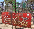 Image for Coca Cola Sign -  Elmer Long's Bottle Tree Ranch - Route 66, California.