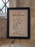 Image for Roll of Honour - All Saints - Rampton, Cambridgeshire