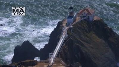 Point Bonita Lighthouse from Above, Marin Headlands, California
