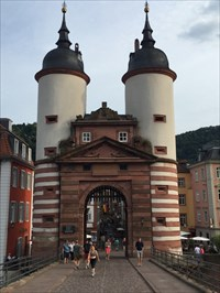 Towers Looking From the Old Bridge, Heidelberg, Germany