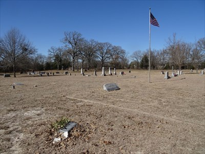 In the foreground, looking out across the cemetery.