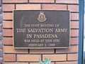 Image for FIRST - Salvation Army Meeting In Pasadena