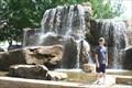 Image for Fountain waterfall, Myriad Botanical Gardens, Oklahoma City, Oklahoma USA