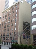 Image for Giant Chessboard on Wall of Building - New York, NY
