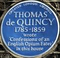 Image for Thomas de Quincey - Tavistock Street, London, UK
