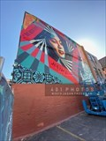 """Image for """"Creativity, Equity, Justice"""" mural by Shepard Fairey - Providence, Rhode Island"""