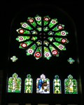 Image for St Barnabas Rose Window.  Norfolk Island.