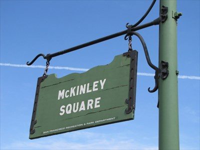 McKinley Square Park Sign, San Francisco, CA