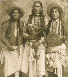 Sioux Indian chiefs visited St. Charles to see the one time hunting grounds of their forefathers. Photo by Rudolph Goebel in 1925