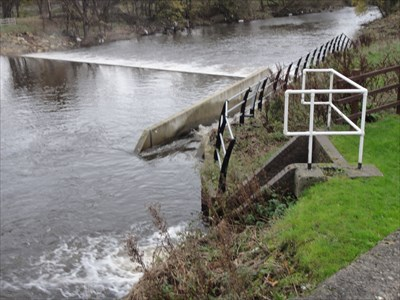 The fish pass can also be seen.