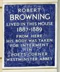 Image for Robert Browning - De Vere Gardens, London, UK