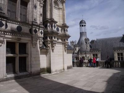 Une terrasse du Château de Chambord