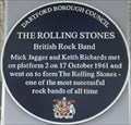 Image for Mick Jagger and Keith Richards of The Rolling Stones Plaque - Dartford Station, Dartford, Kent, UK