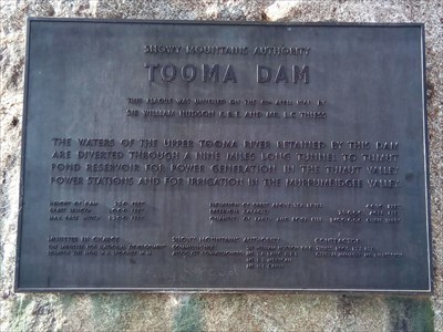 Plaque for the opening of the dam in 1961. 0802, Monday, 31 December, 2018