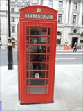 Image for Red Telephone Box - Waterloo Place, London, UK