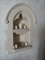 Image for Piscina and Aumbrey shelf - St James - Bicknor, Kent