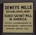 Image for FIRST - Satinet Mill in America, Deweys Mills