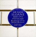 Image for Sir Hans Sloane, Bloomsbury Pla, London, UK