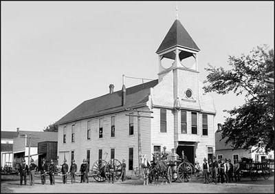 Junction City's first city hall, erected in 1873 at SW corner of 6th and Greenwood