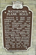 Image for Watertown Plank Road Historical Marker